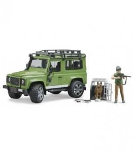 Bruder - Masina De Teren Land Rover Defender Cu Padurar Si Caine