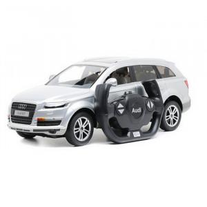 Masina Cu Telecomanda Audi Q7 Alb Scara 1 La 14
