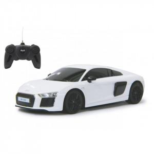 Masina Cu Telecomanda Audi R8 Alb Cu Scara 1 La 24