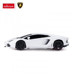 Masina Cu Telecomanda Lamborghini Aventador Alb Cu Scara 1 La 24