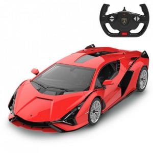 Masina Cu Telecomanda Lamborghini Sian Rosu Cu Scara 1 La 14