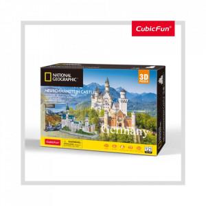 Puzzle 3D+Brosura-Castelul Neuschwanstein 128 Piese