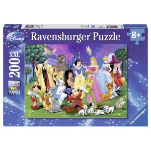 Puzzle Disney Personajele Preferate, 200 Piese