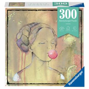 Puzzle Doamna Cu Balon Din Guma, 300 Piese