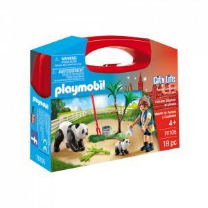 Set Portabil Playmobil - Ursuleti Panda