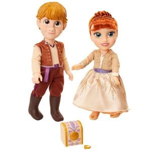 Set Papusi Anna Si Kristoff cu inel de logodna din Frozen 2