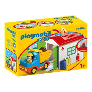 Set de joaca Playmobil 1.2.3, Casuta Cu Forme Si Basculanta