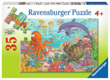 Puzzle Animale Din Ocean, 35 Piese