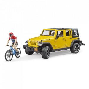 Bruder - Jeep Wrangler Unlimited Rubicon Cu Bicicleta Si Ciclist
