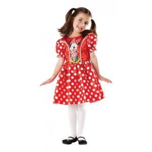 Costum clasic Minnie Mouse Rosu (Marime S)