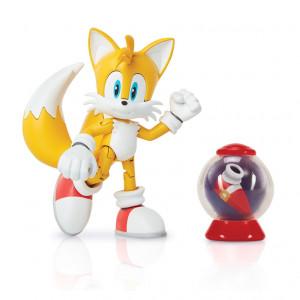 Figurina Articulata Sonic 10 Cm Cu Accesorii - Modern Tails With Fast Show Item Box