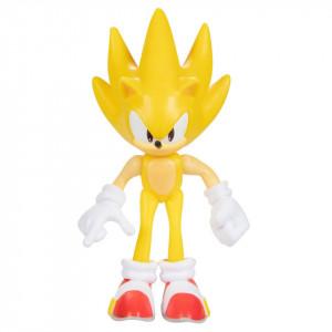 Figurina Articulata Sonic The Hedgehog 6cm, model Super Sonic