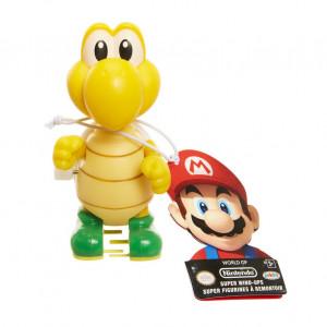 Figurina World of Mario Wind Up cu cheita - Model Yoshi galben, 6 cm