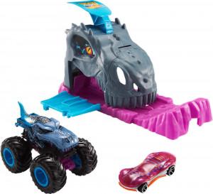 Hot Wheels Lansator Monster Truck Team Mega Wrex Cu Doua Masinute