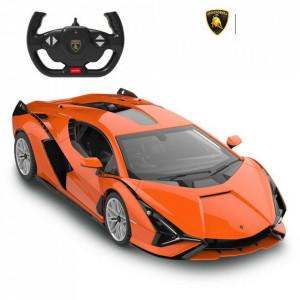 Masina Cu Telecomanda Lamborghini Sian Portocaliu Cu Scara 1 La 14