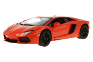 Masinuta Metalica Lamborghini Aventador Lp700 Portocaliu Scara 1 La 18