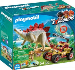 Playmobil Cercetator - Masina De Teren Si Stegosaurus