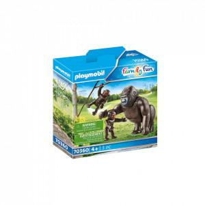 Playmobil Gorila Cu Pui