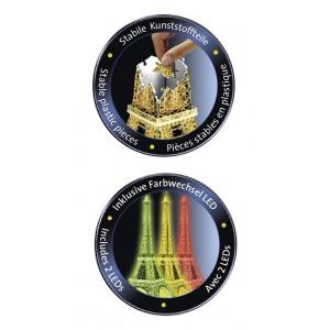 Puzzle 3D Turnul Eiffel Noaptea, 216 Piese