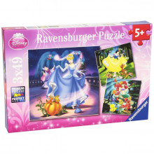 Puzzle Alba Ca Zapada, Cenusareasa Si Ariel, 3X49 Piese
