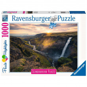 Puzzle Cascada Haifoss Islanda, 1000 Piese