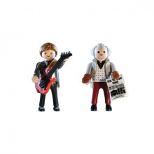 Set cu 2 figurine Playmobil Back To The Future, Marty McFly Si Dr. Brow