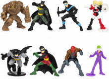 Set de 8 minifigurine eroi Batman - 5 cm