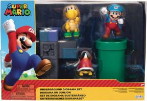 Set de joaca diorama Super Mario Nintendo, model Underground cu figurina 6 cm