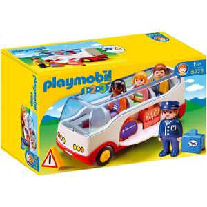 Set de joaca Playmobil, 1.2.3 Autobuz