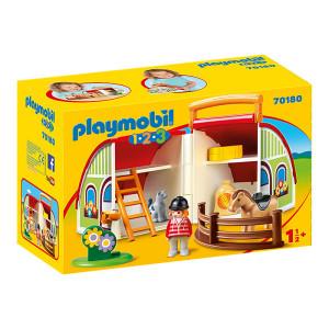 Set de joaca mobil Playmobil 1.2.3, Ferma
