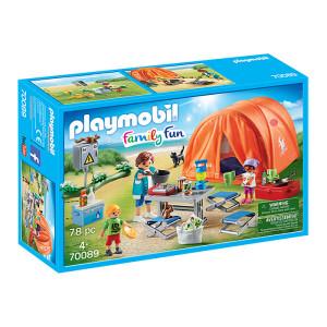 Set de joaca Playmobil Family Fun, Cort Camping