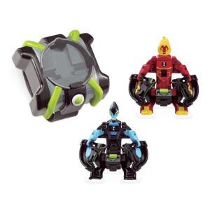 Ceas BEN 10 OMNITRIX cu lansator si 2 figurine de lupta - Torta Vie si XLR8