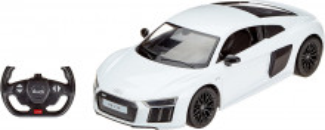 Masina Cu Telecomanda Audi R8 Alb Cu Scara 1 La 14