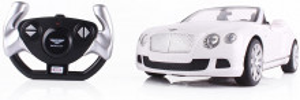 Masina Cu Telecomanda Bentley Continetal Gt Alb Cu Scara 1 La 12