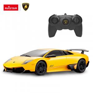 Masina Cu Telecomanda Lamborghini Murcielago Lp670 Galben Cu Scara 1 La 24