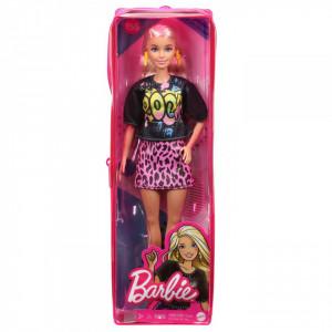 Papusa Barbie Fashionista Blonda Cu Tinuta De Vara Rock