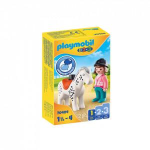 Playmobil 1.2.3 Calaret Cu Cal