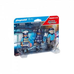 Playmobil Set 3 Figurine Politisti