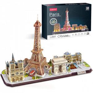 Puzzle 3D Led Paris 115 Piese