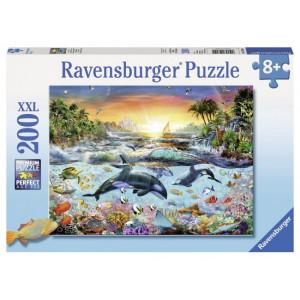 Puzzle Paradisul Delfinilor, 200 Piese