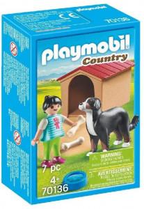 Set de figurine Playmobil, Fetita Cu Catel Si Cusca