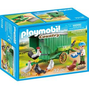 Set de joaca Playmobil, Cotet Cu Gaini