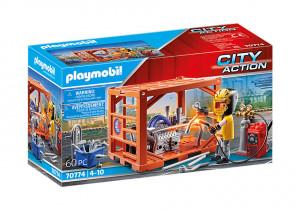 Set de joaca Playmobil Fabricant De Containere