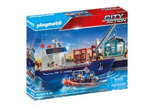 Set de joaca Playmobil Nava De Marfa Cu Barca