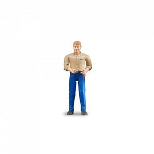 Bruder - Figurina Barbat Cu Pantaloni Albastri