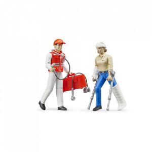 Bruder - Figurine Asistenti Ambulanta Si Accesorii