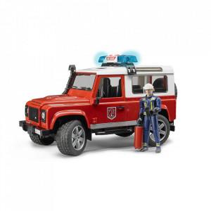 Bruder - Masina De Pompieri Land Rover Defender Si Pompier