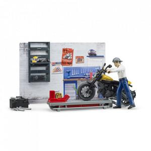 Bruder - Service Cu Motocicleta Scrambler Ducati