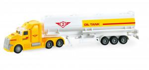 Camion Cisterna Transport Combustibil Frictiune Lumini Si Sunete Scara 1:50