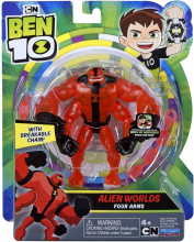 Figurina Ben 10, Alien Worlds Four Arms - 12Cm